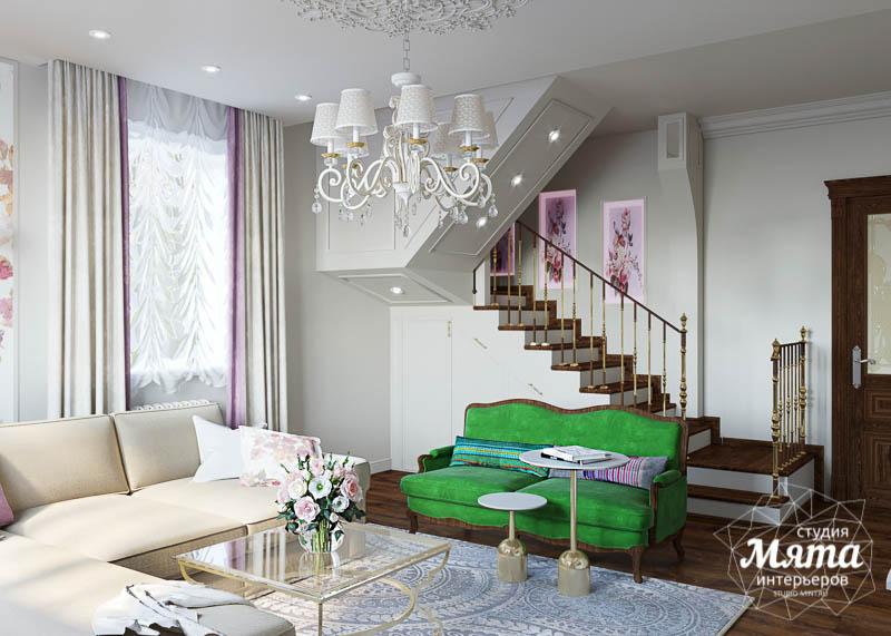 Дизайн-проект гостиной в коттедже
