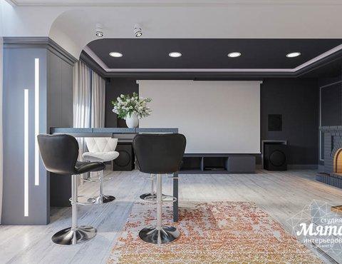 Дизайн интерьера домашнего кинотеатра в коттедже п. Кашино